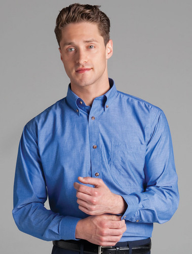 JB's Wear Long Sleeved Indigo Shirt