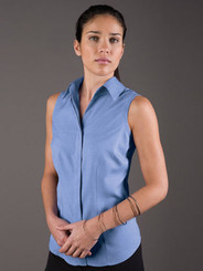 LSJ Freedom Plain Periwinkle Sleeveless Shirt