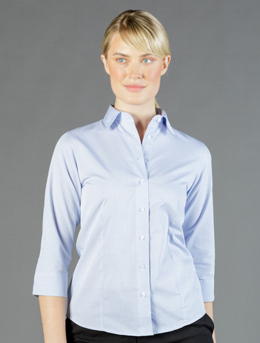 Women's 3/4 Sleeve Square Dobby Shirt (GW1251WL)