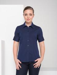 LSJ Ladies 1/2 Sleeve Navy End on End Shirt