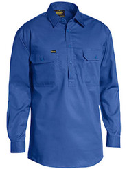 Bisley Royal Closed Front L/S Lightweight Cotton Drill Shirt