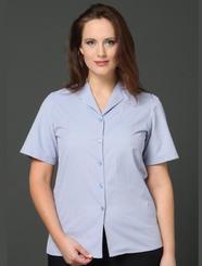 LSJ Bourke Street Stripe Easy Fit Shirt - Wisteria/Charcoal