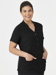 City Collection City Stretch Black Spot Tunic