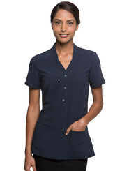 City Collection City Stretch Navy Spot Tunic