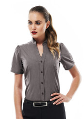 Chevron Stand Collar Shirt - DISCONTINUED NO RETURN