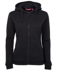 JB's Wear Ladies Full Zip Black Fleecy Hoodie