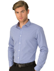 Cobalt Mens So Ezy Check Long Sleeved Shirt