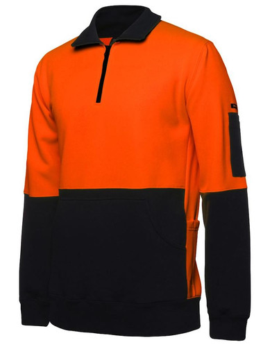 Hi Vis 1/2 Zip Fleece
