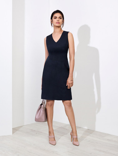 Ladies Sleeveless V Neck Dress