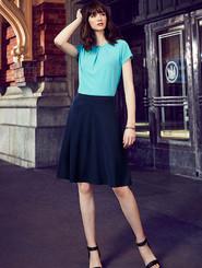 Bandless Flared Skirt