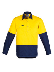 Hi Vis Closed Front L/S Shirt