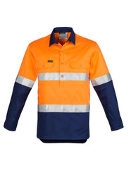 Hi Vis Closed Front Taped Shirt