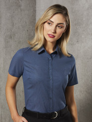 Ascot Dot Jaquard Stretch Shirt