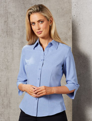 Ladies CoolDry  3/4 Shirt - Blue