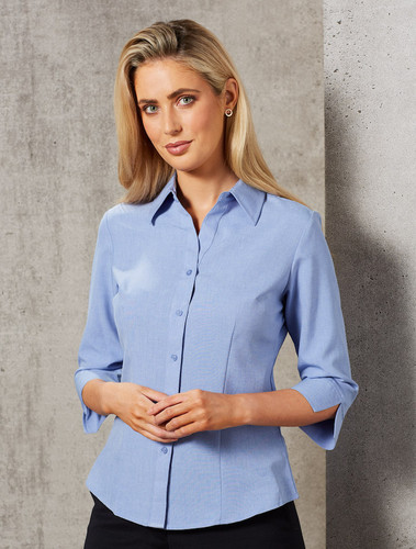 Ladies CoolDry  3/4 Shirt - Blue