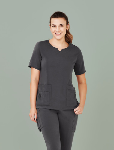 Avery Tailored Fit Round Neck Scrub Top