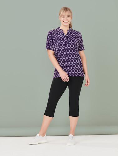Womens Easy Stretch Daisy Print Tunic