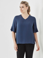 Aria Fluted Sleeve Blouse