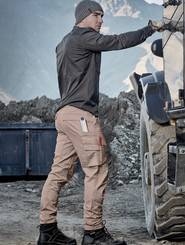 Mens Curved Cargo Pants
