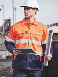 Hi Vis Cotton Drill Jacket