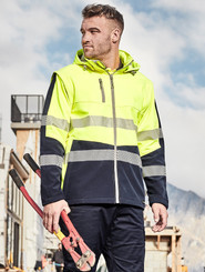 Unisex Hi Vis 2 in 1 Softshell Jacket