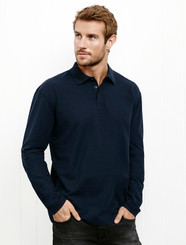 Mens  Long Sleeved Polo