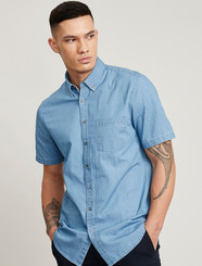 Mens S/S Denim Shirt