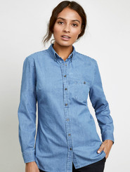Ladies L/S & S/S Denim Shirt