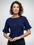 Navy Belle Knitted Top