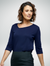 Navy Aries Knitted Top