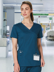 Ladies Stretch Scrub Top