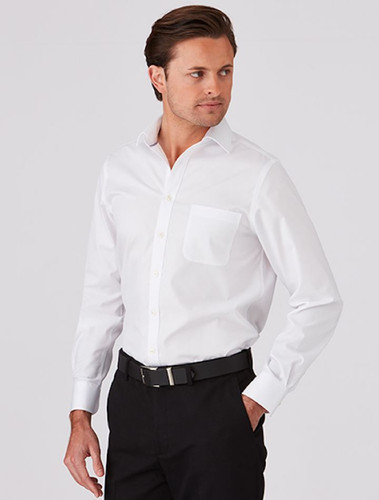 Mens Cotton Rich Super Fine Twill Shirt
