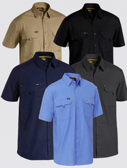 Mens X Airflow™ Short Sleeved Ripstop Work Shirt