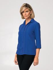 Sophia 3/4 Sleeve Shirt - Cobalt