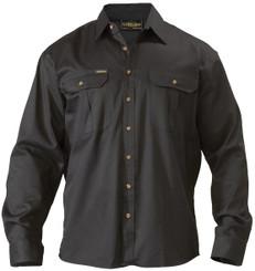 Bisley Original Cotton Mens Long Sleeve Drill Shirt