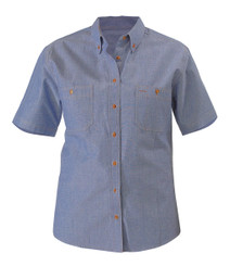 Chambray Ladies Shirt - Short Sleeve