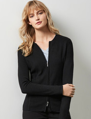 Ladies 2 Way Zip Cardigan