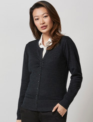 Ladies 100% Merino Wool Cardigan