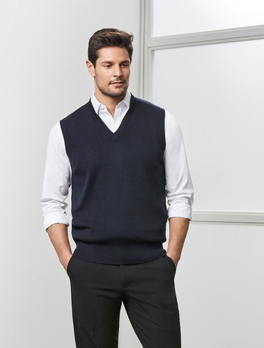 Woolmix V-Neck Mens Vest