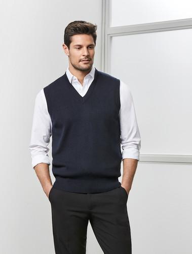 Woolmix V-Neck Mens Vest