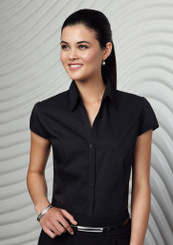 Metro Ladies Cap Sleeve Shirt