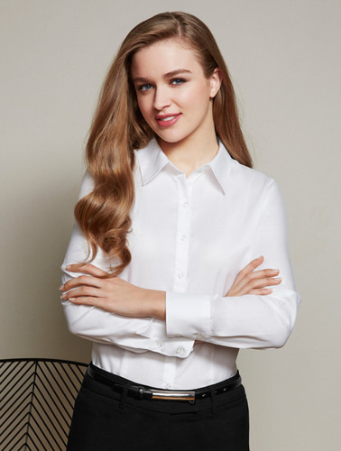 100% Cotton Ladies Luxe Long Sleeved Shirt
