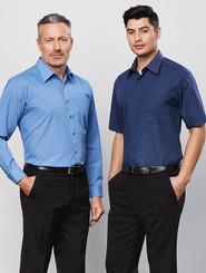 Biz Collection Micro Check Mens L/S Shirt