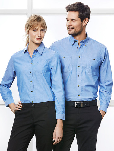 Mens & Ladies Chambray L/S Shirt