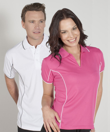 Mens and Ladies Piping Polo