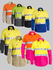 Bisley 3M Taped Cool Hi Vis Light Weight Shirt