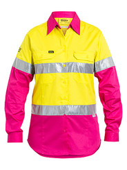 Ladies Cool Hi Vis Taped Light Weight Shirt