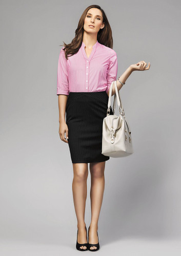 Bordeaux Ladies 3/4 Sleeve Shirt (BC40114)