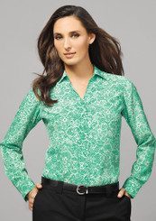 Solanda Ladies Printed Long Sleeve Shirt