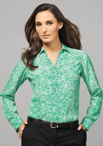 Solanda Ladies Printed Long Sleeve Shirt